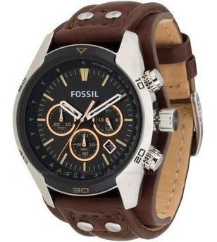 Relógio Fossil Ch28912pn Pulseira De Couro