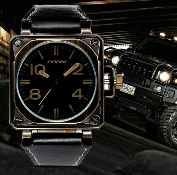 Relógio Quadrado Masculino Promoção Retrô Barato C/ Estojo