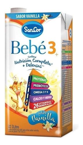 Leche de fórmula líquida Mead Johnson SanCor Bebé 3 sabor vainilla brick 1L