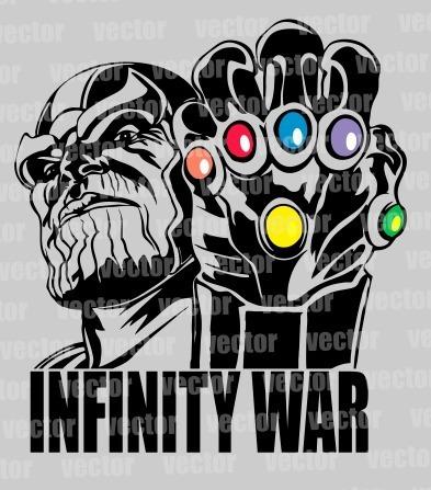 Avengers Endgame Thanos Vector Pdf Corte Vinil Serigrafia