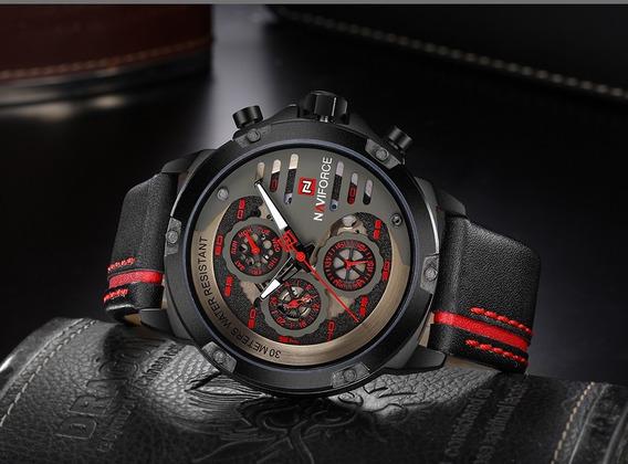 Relógio Esporte Masculino Original Naviforce 9110 Brb