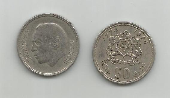 Moneda Marruecos 50 Sant. 1974 Muy Buena
