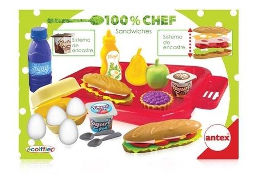 Set De Juego Sandwiches Bandeja Y Accesorios Antex 1144