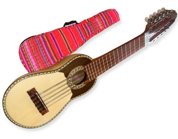 Charango Luthier Tallado Madera Artesanal C/ Funda