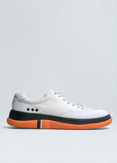 Osklen Shoes | Tenis Hybrid - Offwhite/ Preto/laranja -tam39