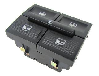 Interruptor Gol G4 Duplo Coman Traseiro+bloqueio/fundo Cinza/led Verde