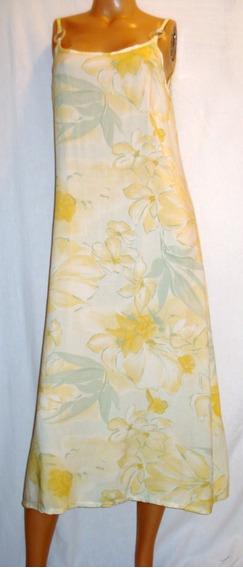 Vestido Vintage Solero Verano Largo Cierre Espalda Talle 1