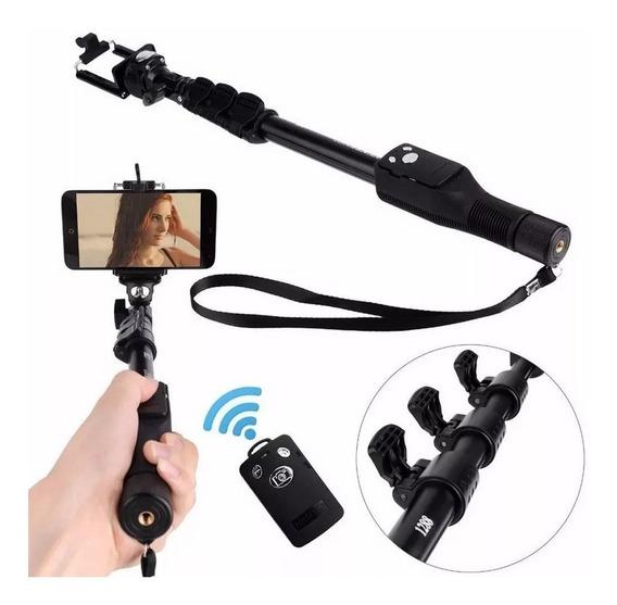Bastao Pau De Selfie Mao Retratil Monopod Controle Integrado