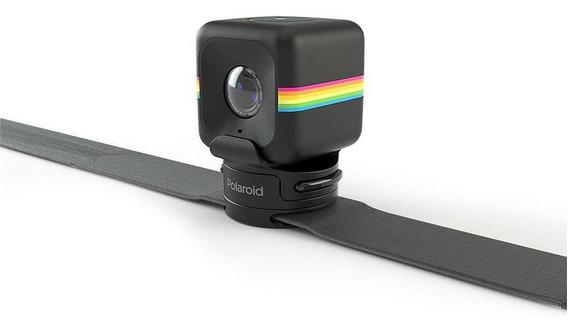Câmera De Ação Full Hd Cube Polaroid Preta Suporte E Fixação