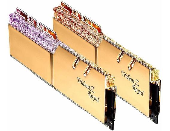 Memoria Ram 16gb G.skill Trident Z Royal Series Gold (2x8gb) 288-pin Rgb Ddr4 4600 (pc4 36800) Dimm F4-4600c18d-16gtrg