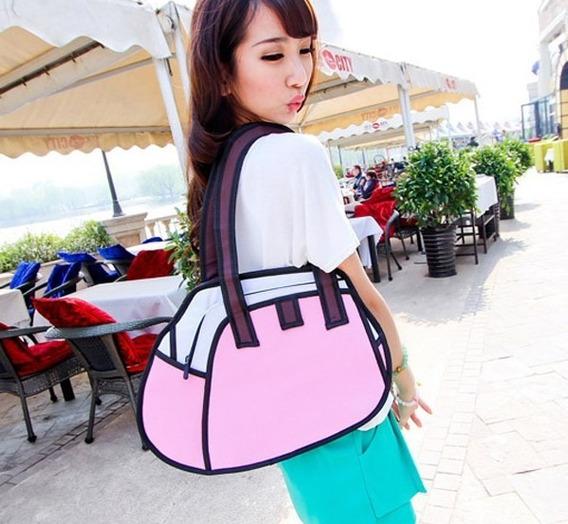 Bolso Cartera Diseño 2d 3d Cartoon Bag Handbag Importada 12