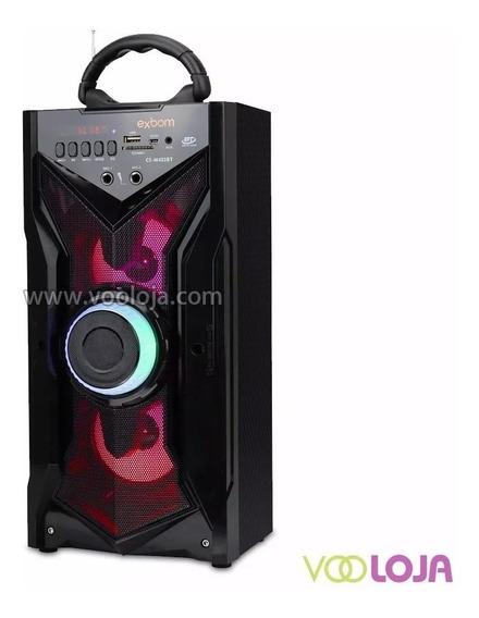 Caixa De Som 12w Exbom Wireless Bluetooth Fm/usb Cs-m433bt
