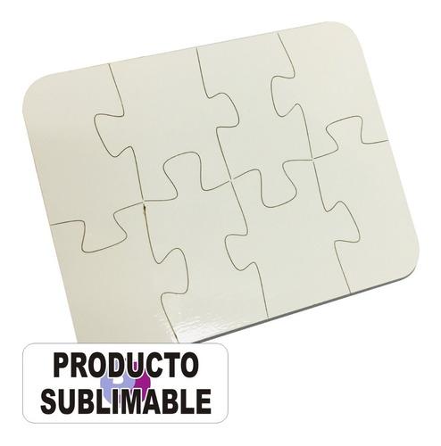 Rompecabezas Sublimables Mdf 15x12 Cm 8 Piezas 5 Unidades