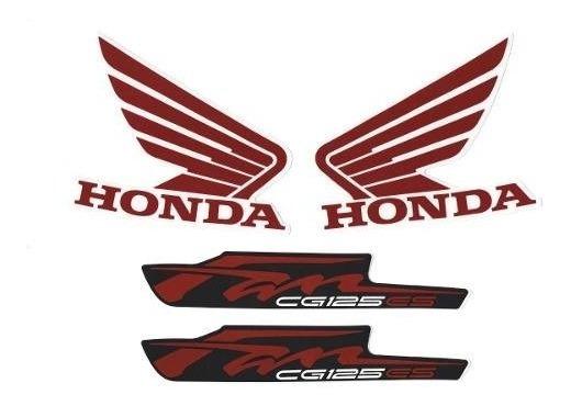 Kit Adesivos Honda Fan Cg 125 Es 2012 Preta