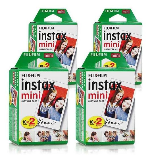Filme Instax Mini Instantâneo Fujifilm - Kit 80 Fotos
