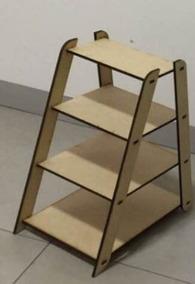 Kit 2 Cavaletes Escada Organizador De Ambiente