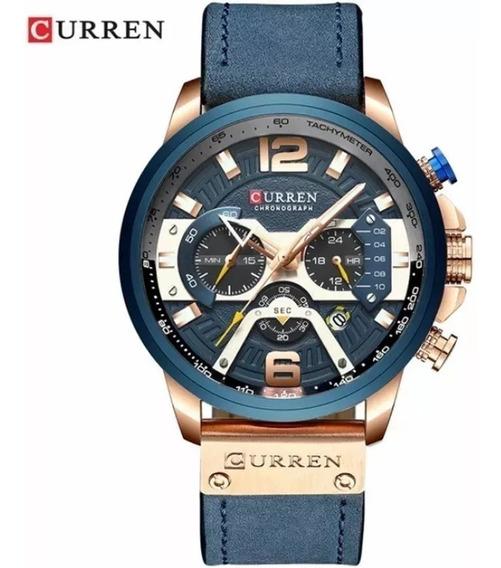 Relógio Masculino Curren 8329 Original Luxo Couro Promoção