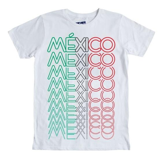 Playera Mascara De Latex México Tricolor