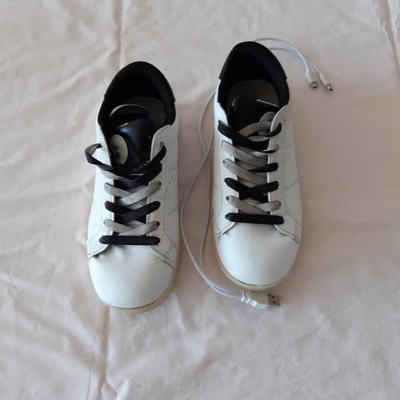 Zapatillas Footy Con Luces Led Y Carga Usb