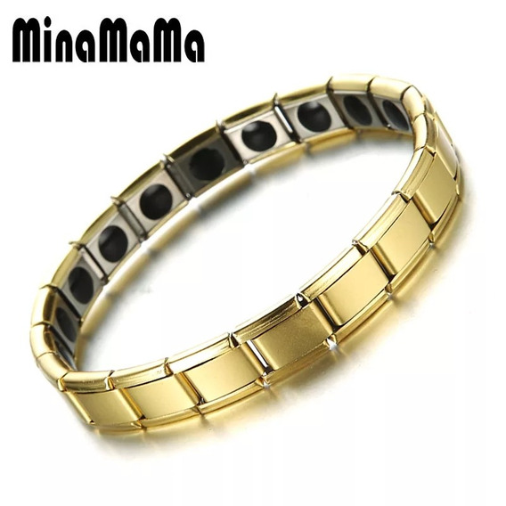 Pulseira Aço Masculina Bracelete Feminina Magnética Íons
