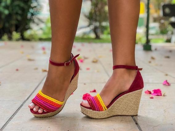Sandalia Plataforma Colorida