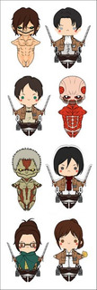 Plancha De Stickers De Shingeki No Kyojin Attack On Titan 2