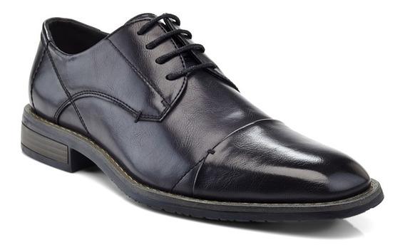 Sapato Masculino Social Oxford Cap-toe Preto Importado Us