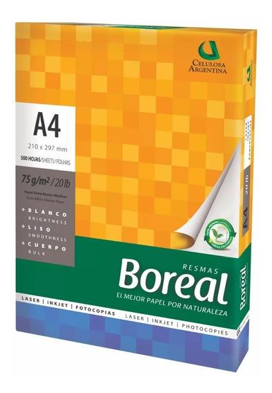 1 Resma A4 75g Boreal X500 Hojas