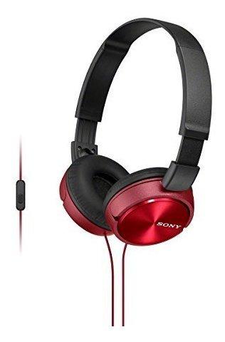 Auriculares Estereo Marca Sony De Color Rojo