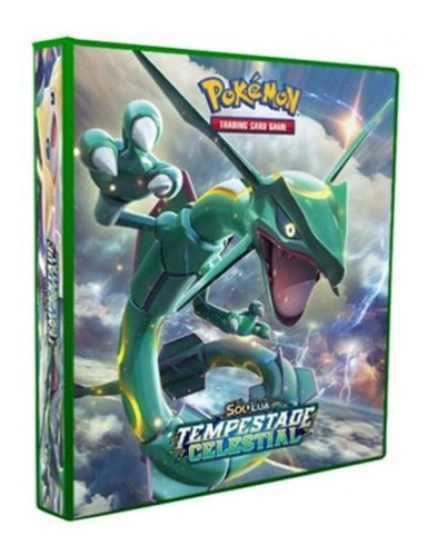Pasta Álbum Tipo Fichário Pokémon + 30 Folhas Yes