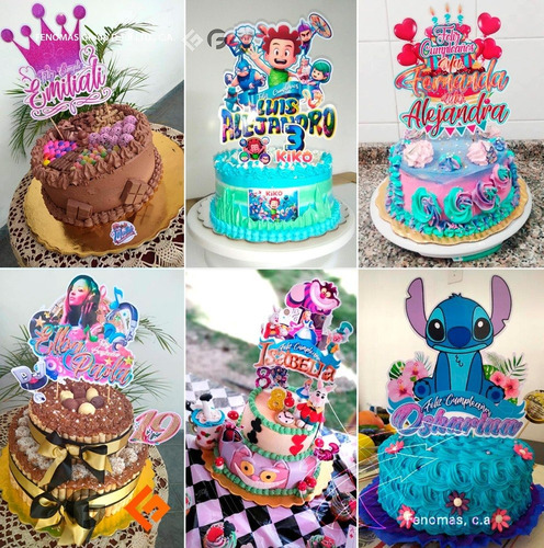 Topper Para Tortas Minitoppers Cupcake Personalizado Ocasion
