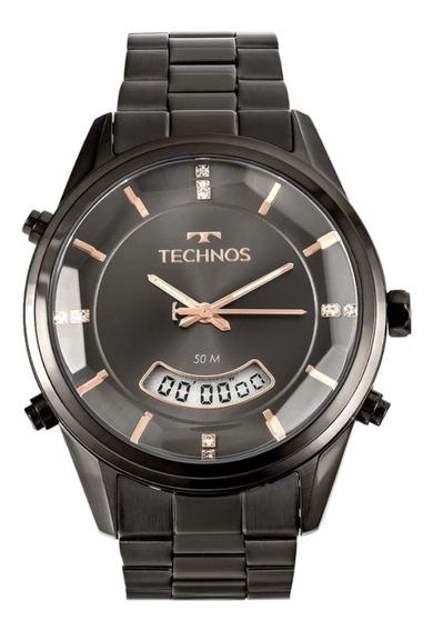 Relógio Technos Feminino Aço Preto T200ak/4c