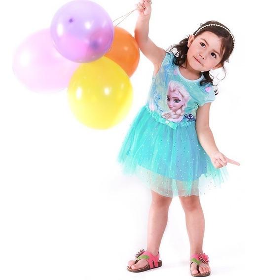 Vestido Frozen Niña Disfraz Tutu Elsa Ropa Disney Princesa