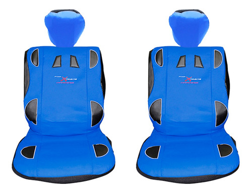 Cubre Asiento Universal Delantero Azul Kit Tunning