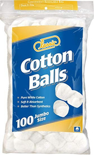 Bolas Clásico De Algodón Tamaño Jumbo, 100count