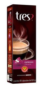 Cápsulas De Café 3 Corações Espresso Vibrante 10un