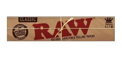 Kit 25 Seda Raw King Size Classic Slim