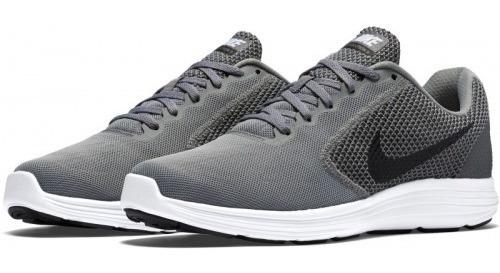 Nike Revolution 3 Gris Negro Blanco Running 819300002