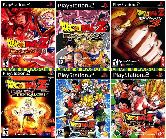 6 Jogos Dragon Ball Z Budokai 1 2 3 E Tenkaichi 1 2 3 Ps2