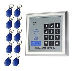 Controle De Acesso Eletrônico Rfid + 10 Chaves Rfid