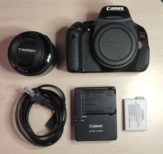 Canon T3i + Lente 50mm 1.8 + Acessórios