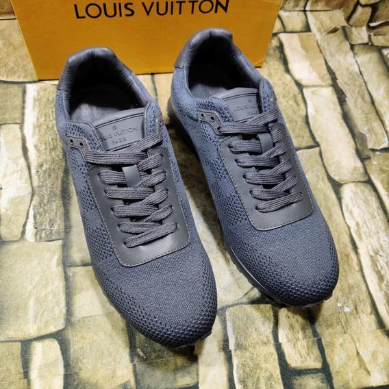 Tenis Louis Vuitton Gris, Envío Gratis