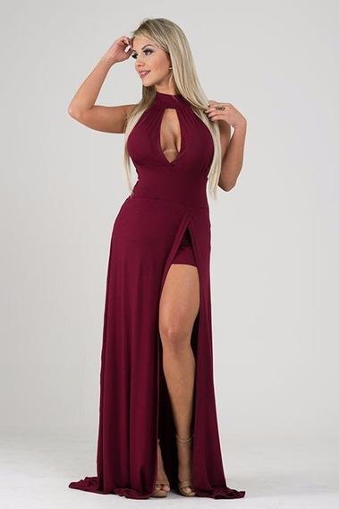 Vestido Largo De Fiesta En Seda Fria Modelo Elegante Art99