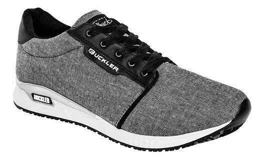 Buckler Sneaker Deportivo Niño Gris Textil J97607 Udt