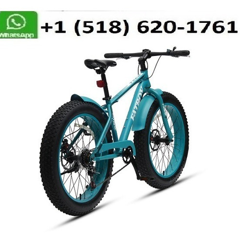 24 Inch Steel Suspension 7 Speed Fat Tire Bike Snow Mountain