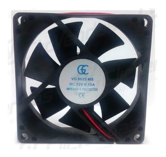 Micro Ventilador 80x80x25 Gc Fan Cooler 12v 0,15a 80mm