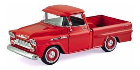 Miniatura Chevy Apache Pick-up 1958 Motormax Laranja 1:24