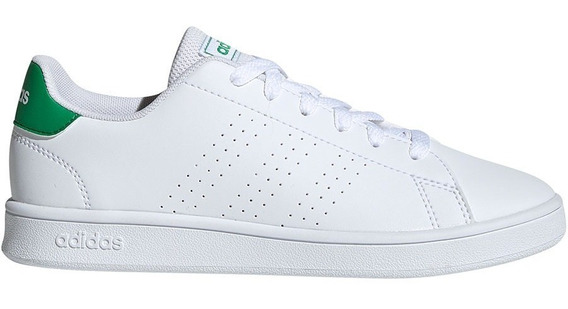 Tenis adidas Advantage Clean Niño Blanco/verde Escolar Cl