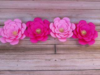 Flores De Papel Gigantes Decoracion X4