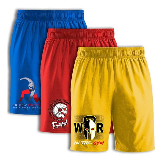 Bermuda Pantalón Corto Entrenamiento Triple Pack Genetic